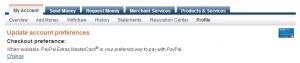 choose paypal mastercard as a preferred way 3