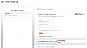 create a paypal account
