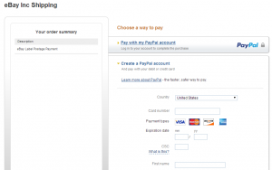 enter info in new paypal account