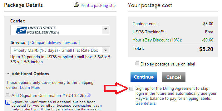 seller how to pay ebay with paypal