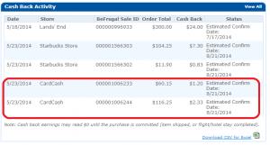 befrugal cash back cardcash