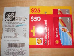 $15 credit on $75 or more at home depot