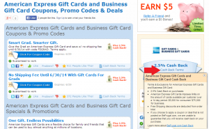 2.5 percent cash back on the purchase of amex gc
