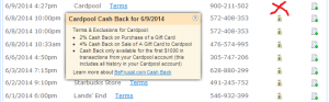 befrugal com cash back from cardpool
