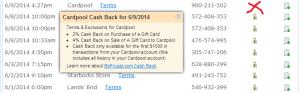 befrugal com cash back from cardpool