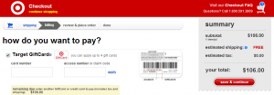 target covert visa gift card