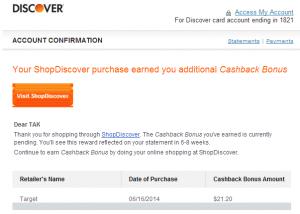 target visa gift card through shopdiscover