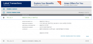 amex offer amazon $20 back on $20