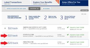 amex offer amazon staples online