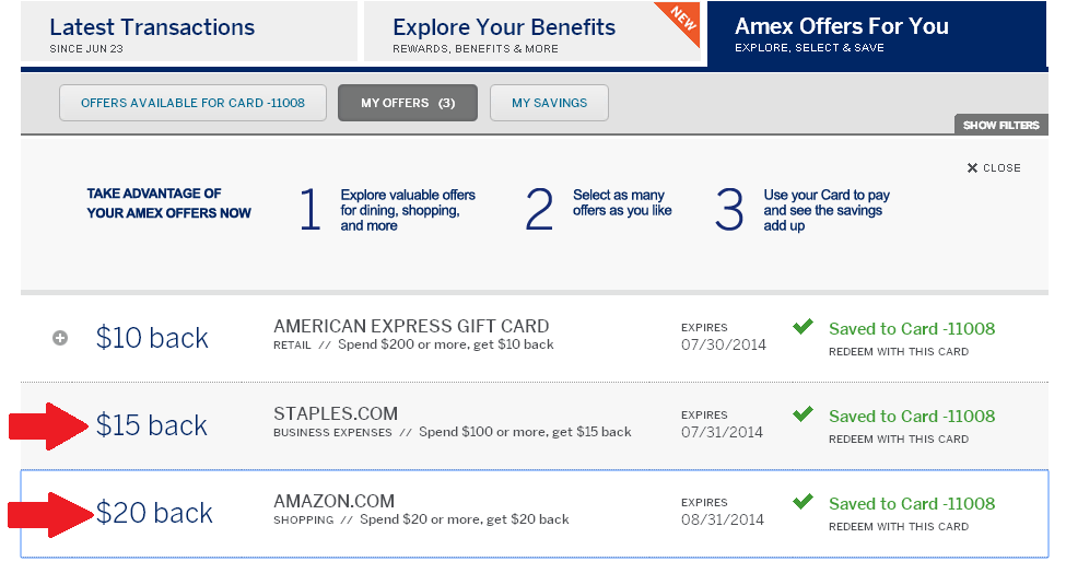 New Amex Offer at amazon.com and Staples.com - Ways to Save Money ...