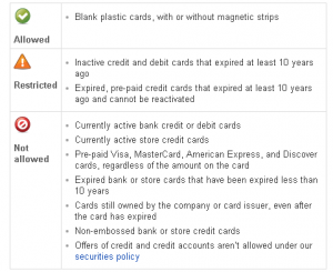 ebay gift card policy