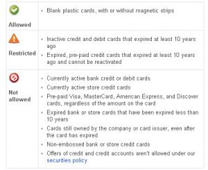 ebay gift card policy