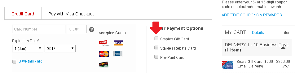 No Longer Purchase Gift Cards With Staples Gift Cards Online Ways