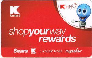 shop your way rewards card kmart version