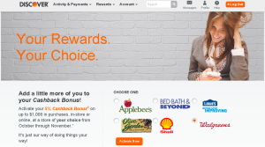 discover 5 percent cashback choice