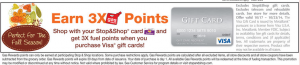 3 times gas points on visa gift card purchases