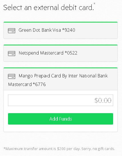 pay pal how to allow bank account or debit card