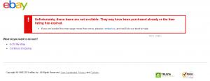 error on ebay
