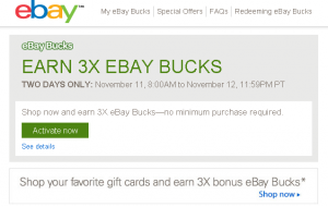 3x ebay bucks no minimum