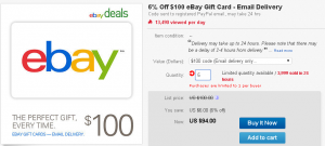 6 percent off ebay gift card