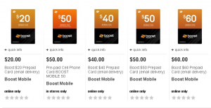 boost mobile prepaid card at target