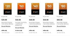 boost mobile prepaid card at target