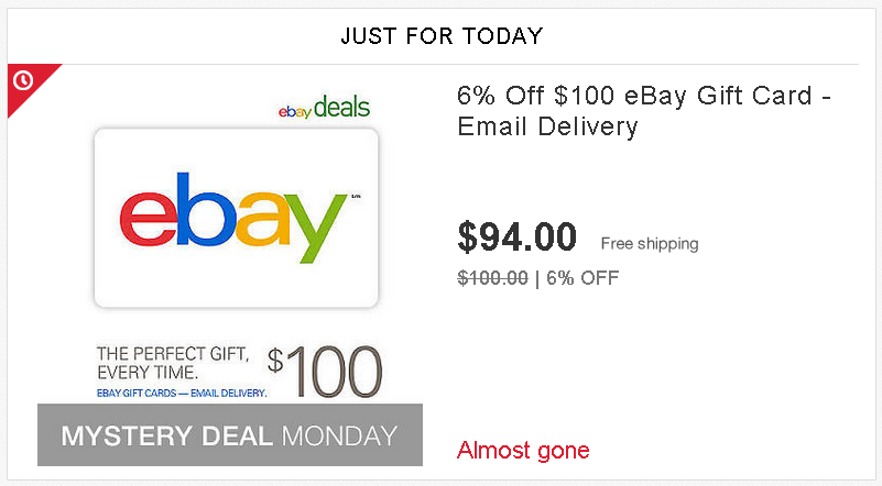 eBay Deals *6% off eBay Gift Code* - Ways to Save Money when Shopping
