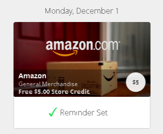 free 5 dollar for amazon