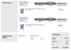 no fee visa gift card at target