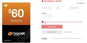re boost card at target