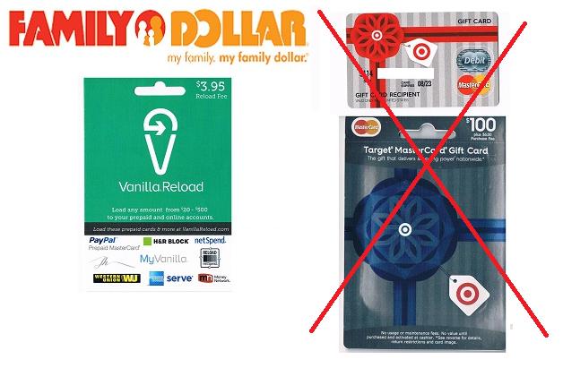target mastercard gift card at family dollar