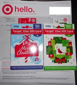 target visa gift card no fee