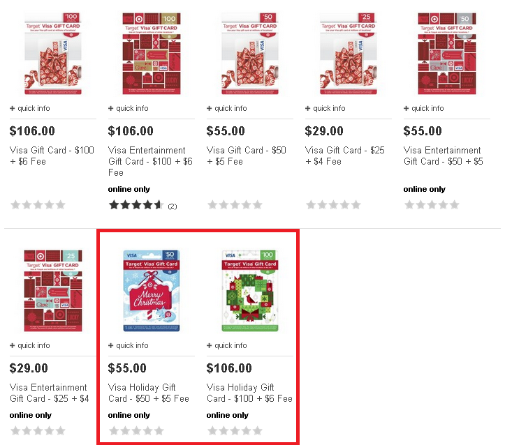 Visa Holiday Gift Card available online now at Target ...