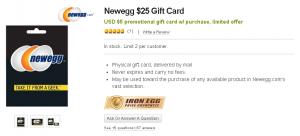newegg gift card promo