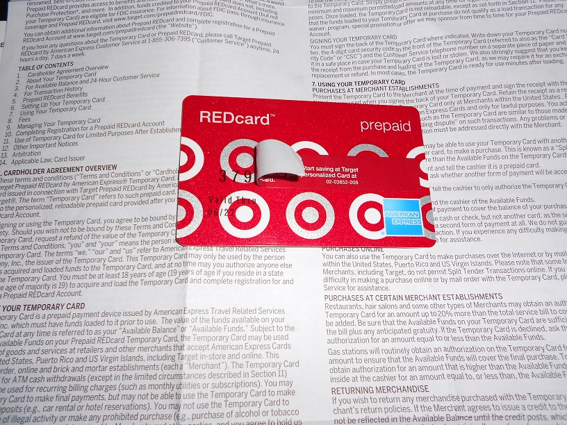 Temporary Prepaid Redcard Arrived Closing Serve Account Ways To