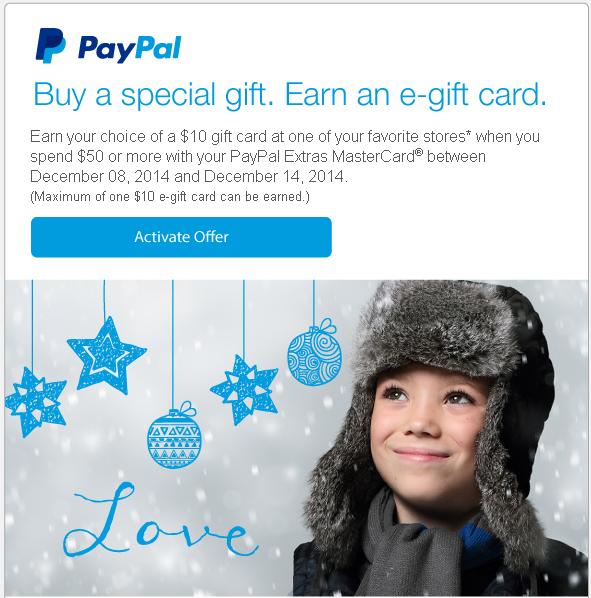 paypal extras mastercard promo