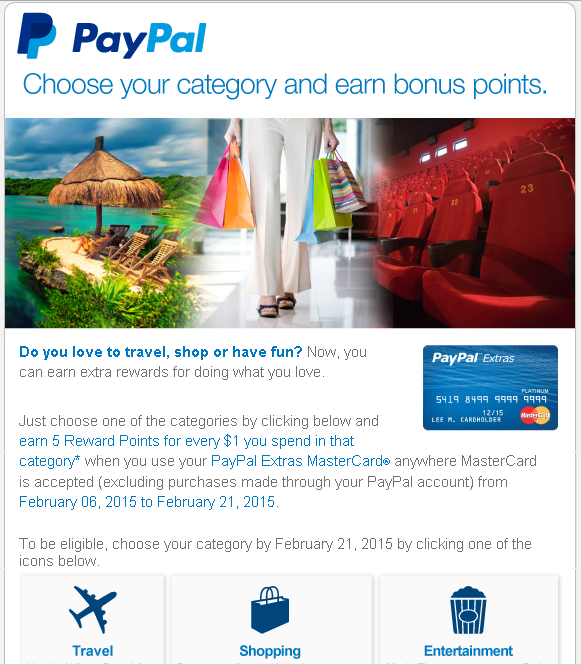 paypal extras promo 5x rewards