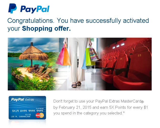 paypal shopping offer