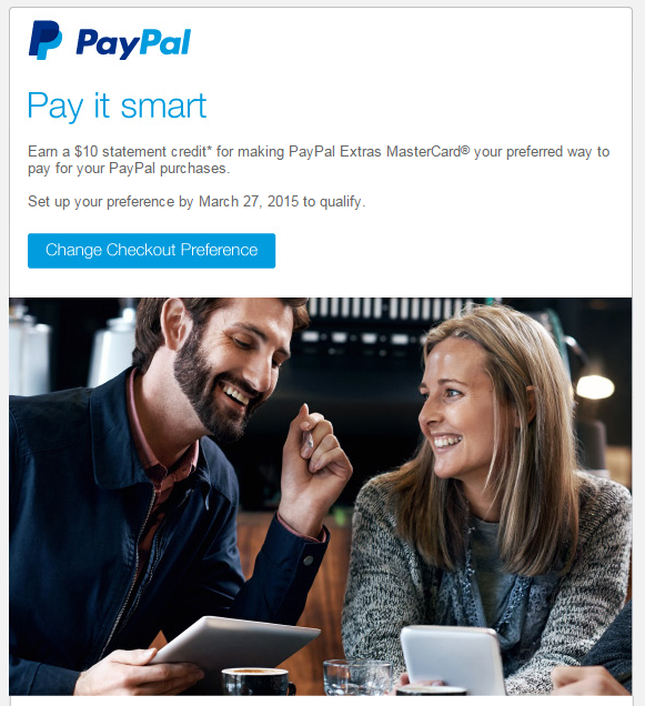 paypal extras mastercard 10 dollar statement credit offer