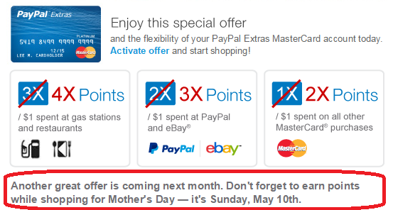 paypal extras mastercard extra bonus rewards offer
