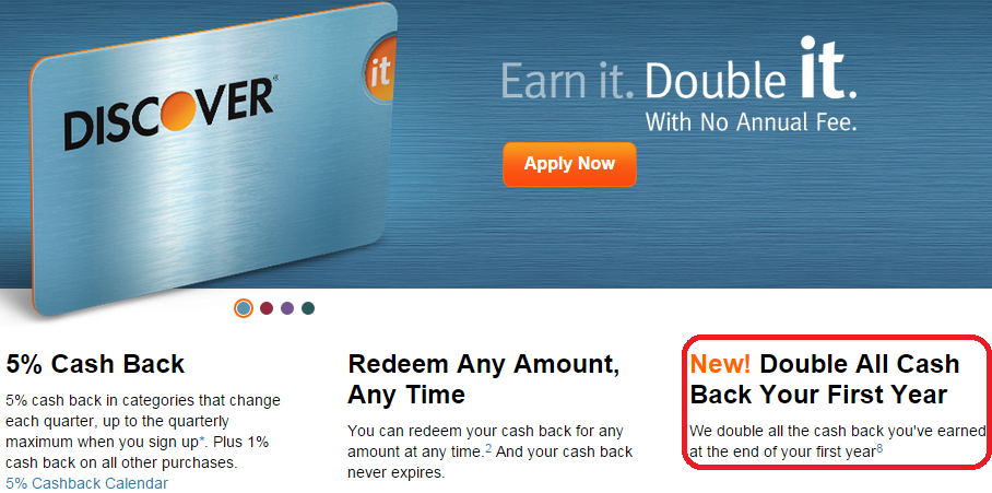 discover double all cash back