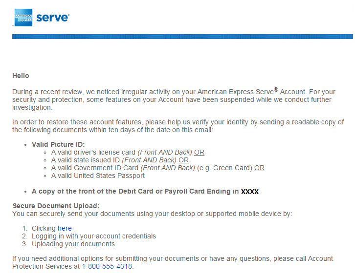 link debit card with serve account