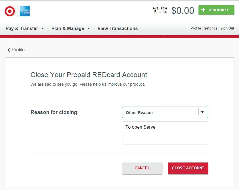 reason for closing