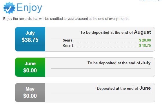 paypal prepaid reward earned