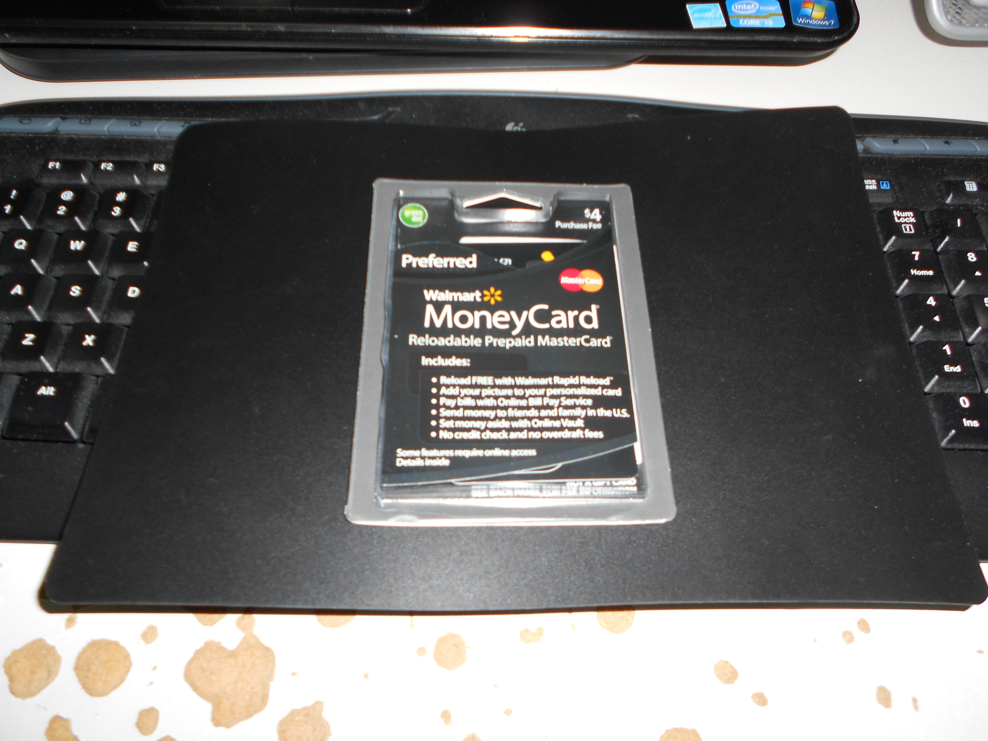 Walmart money card bank info / T mobile phone top up