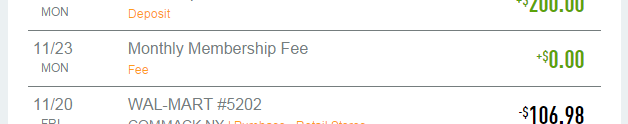 gobank monthly membership fee waived